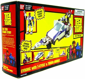 Teen Titans T-Vehicle Cyborg with T-Cycle and Turbo Mobile