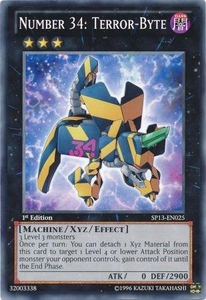 YuGiOh Star Pack 2013 Single Card SP13-EN025 Number 34: Terror-Byte
