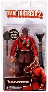 NECA Team Fortress 2 RED Series 2 Action Figure Soldier [In Game Virtual Item Redemption Code!]