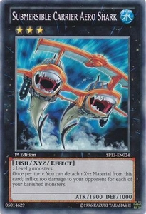 YuGiOh Star Pack 2013 Single Card SP13-EN024 Submersible Carrier Aero Shark