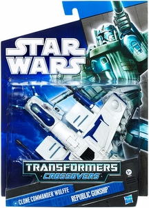 Star Wars 2010 Transformers Crossovers Clone Commander Wolffe to Republic Gunship