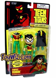 Teen Titans 5 Inch Action Figure Transforming Puppet Robin