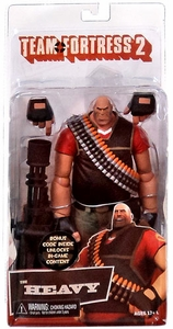 NECA Team Fortress 2 RED Series 2 Action Figure Heavy [In Game Virtual Item Redemption Code!]