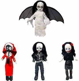 Mezco Toyz Living Dead Dolls 2013 SDCC San Diego Comic Con Exclusive Resurrection Series 7 Set of 4 Figures [Revenant, Dahlia, Lust, Killbaby]