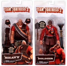NECA Team Fortress 2 Set of Both RED Series 2 Action Figures [Soldier & Heavy]