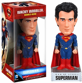 Funko Man of Steel Wacky Wobbler Bobble Head Superman