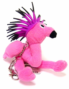 Zibbies Keychain Cascade Toys Plush Flamingo
