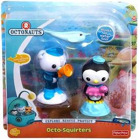Fisher Price Octonauts Octo-Squirters 3-Pack Narwhal, Peso & Barnacles