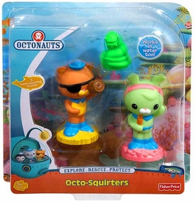 Fisher Price Octonauts Octo-Squirters 3-Pack Eel, Kwazii & Tweak
