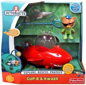 Fisher Price Octonauts Vehicle & Figure Playset GUP-B & Kwazii