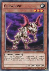 YuGiOh Star Pack 2013 Single Card SP13-EN020 Chewbone