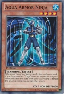 YuGiOh Star Pack 2013 Single Card SP13-EN017 Aqua Armor Ninja