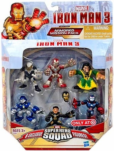 Iron Man 3 Super Hero Squad Exclusive 6-Pack Armored Mission Pack [Iron Man Mark 42, Ghost Armor, Deep Depth, Rapid Deploy, Iron Patriot & Mandarin]
