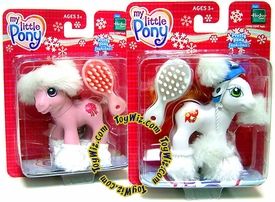 My Little Pony Pretty Pony Fashions Set of Both Holiday Christmas Mini Ponies