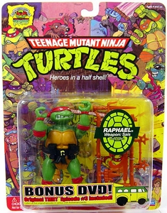 Teenage Mutant Ninja Turtles 25th Anniversary Action Figure Raphael DVD Included!