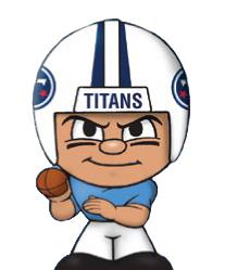 TeenyMates NFL Quarterbacks Series 1 Tennessee Titans