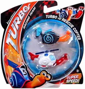 Turbo Movie Vehicle 2-Pack Turbo vs Rescue Copter