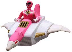 Mighty Morphin Power Rangers MOVIE McDonald's Happy Meal Pink Ranger with Crane Ninjazord