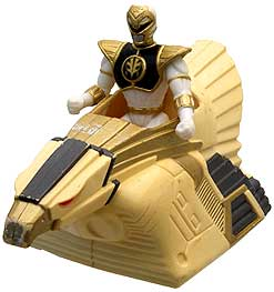 Mighty Morphin Power Rangers MOVIE McDonald's Happy Meal White Ranger with Falcon Ninjazord