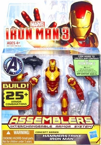 Iron Man 3 Assemblers Series 3 Action Figure Hammerstrike Iron Man [Red & Gold] Pre-Order ships March