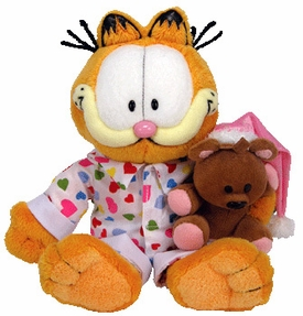 Ty Garfield Beanie Baby Goodnight Garfield