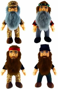 Duck Dynasty Set of 4 Plush 13 Inch Figures with Sound [Jase, Willy, Phil & Si]