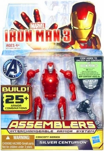 Iron Man 3 Assemblers Series 3 Action Figure Silver Centurion [Red & Silver] Pre-Order ships April