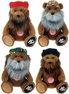 Duck Dynasty Set of 4 Plush 8 Inch Bears with Beards & Sound [Jase, Willy, Phil & Si]