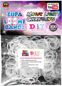 D.I.Y. Do it Yourself Bracelet Zupa Loomi 300 Magic Light Changing Rubber Bands with 'S' Clips