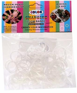 Rainbow Bandz Loom Bracelet 100 Blue & Purple UV Color Changing Rubber Bands with 'S' Clips