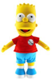 Simpsons 25th Anniversary 24 Inch Plush Bart Pre-Order ships March