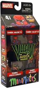 Marvel Minimates Mini Figure 4-Pack Zombie Villains [Green Goblin, Red Skull, Magneto & Galactus]