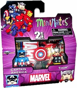 Diamond Select Marvel Minimates Best of Series 1 Mini Figure 2-Pack Captain America & Thor BLOWOUT SALE!