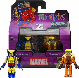 Diamond Select Marvel Minimates Best of Series 1 Mini Figure 2-Pack Wolverine & Sabretooth