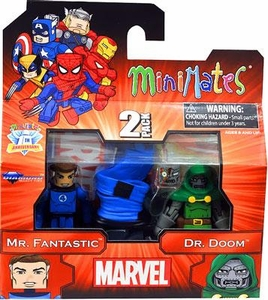 Diamond Select Marvel Minimates Best of Series 2 Mini Figure 2-Pack Mr. Fantastic & Dr. Doom