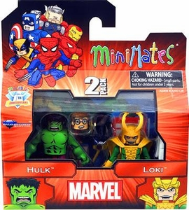 Diamond Select Marvel Minimates Best of Series 2 Mini Figure 2-Pack Loki & Hulk