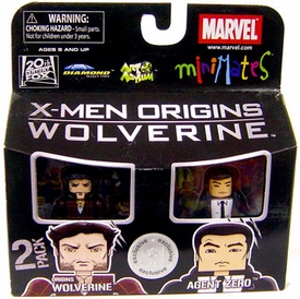 Marvel MiniMates Exclusive X-Men Origins Wolverine Mini Figure 2-Pack Origins Wolverine & Agent Zero