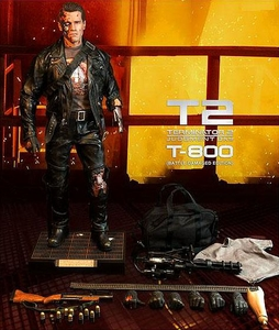 Enterbay Terminator 2 HD Masterpiece 1/4 Scale Battle Damaged T-800 Figure