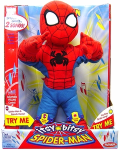 Spider-Man & Friends Itsy Bitsy Spider-Man 14 Inch Plush Singing Figure Damaged Package!