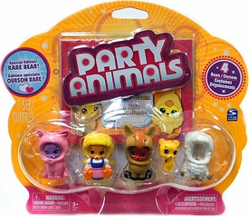 Party Animals Figure 4-Pack [Yellow Bear Showing]
