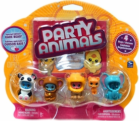 Party Animals Figure 4-Pack [Orange Bear Showing]