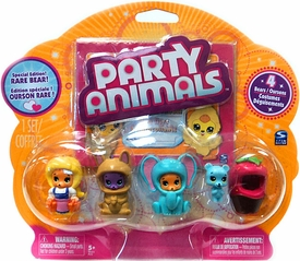 Party Animals Figure 4-Pack [Blue Bear Showing]