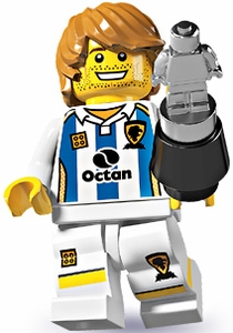 LEGO Minifigure Collection Series 4 LOOSE Mini Figure Soccer Player