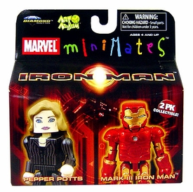 Iron Man Movie Minimates Figure 2-Pack Pepper Pots & Mark III Iron Man