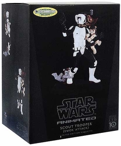 Star Wars Gentle Giant Animated Maquette Scout Trooper Ewok Attack