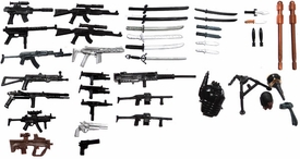 Generic 3 3/4 Inch LOOSE Action Figure Weapon & Accessory LOT  [41 Pieces]