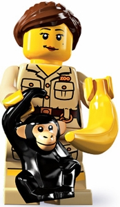 LEGO Minifigure Collection Series 5 LOOSE Mini Figure Zoo Keeper