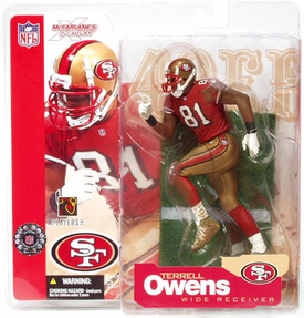 McFarlane Toys NFL Sports Picks Series 4 Action Figure Terrell Owens (San Francisco 49ers) Red Jersey
