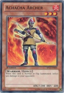 YuGiOh Star Pack 2013 Single Card SP13-EN004 Achacha Archer
