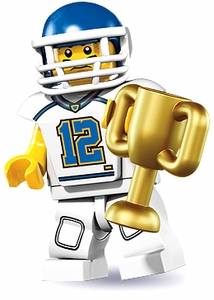 LEGO Minifigure Collection Series 8 LOOSE Mini Figure Football Player